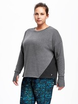 Old Navy Colorblock Plus-Size Fleece Pullover