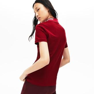 Lacoste Women's Slim Fit Stretch Pique Polo Shirt