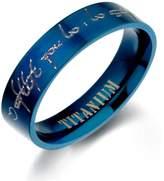 Gemini Custom Plain Flat Comfort Fit Titanium Wedding Ring width 6mm US Size 9 Valentine's Day Gift