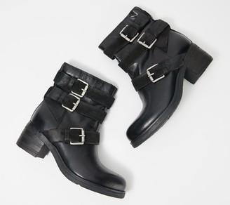 Miz Mooz Leather Buckle Mid Boots - Skye