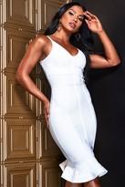 boohoo Contour Bandage Frill Hem Midi Dress