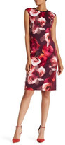 Maggy London Floral Print Scuba Midi Dress