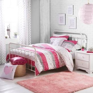 Better Homes & Gardens Better Homes and Gardens Kids Pink Dotted Stripes Comforter & Sham Set w/ Decorative Pillow