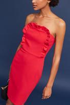 Black Halo Valerie Ruffled Strapless Dress