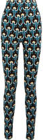 Marni Jacquard-knit Cotton-blend Leggings - Teal