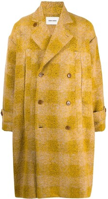 Henrik Vibskov Check-Pattern Double-Breasted Coat