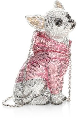 Judith Leiber Couture Chihuahua Bruiser Crystal Clutch