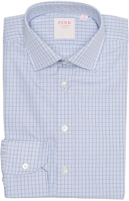 Thomas Pink Alumo Grid Check Print Dress Shirt