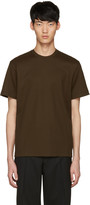 John Lawrence Sullivan Johnlawrencesullivan Khaki Waffle Knit T-shirt