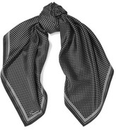 Sandro Azusa Printed Silk Scarf