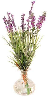 """13"""" Lavender Bunch in Glass Vase - Purple - The French Bee"""