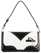 Christian Dior Borgue Bicolor Patent Leather D'Trick Shoulder Bag