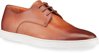 Santoni Men's Doyle Leather Derby Sneakers