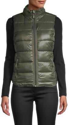 Andrew Marc Sleeveless Puffer Jacket
