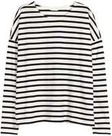 H&M Striped Jersey Top - White/striped - Ladies