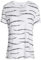 Zoe Karssen Animal-Print Cotton And Linen-Blend T-Shirt