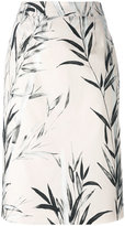 Blumarine printed pencil skirt