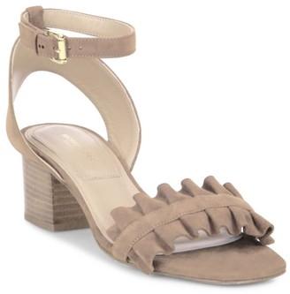 Michael Kors Monroe Ruffle Suede Sandals