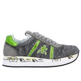 Premiata Conny Sneakers In Suede And Writable Sequins With Logo