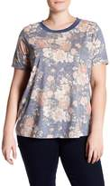 Blu Pepper Short Sleeve Floral Tee (Plus Size)