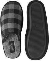 Savile Row Men's Black Check Mule Slippers