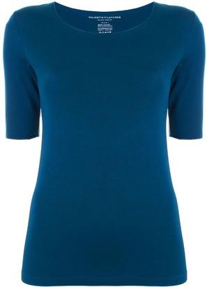 Majestic Filatures elbow-sleeve scoop-neck T-shirt