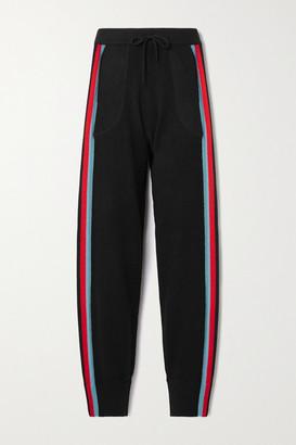 Bella Freud Meisel Striped Cashmere Track Pants - Black