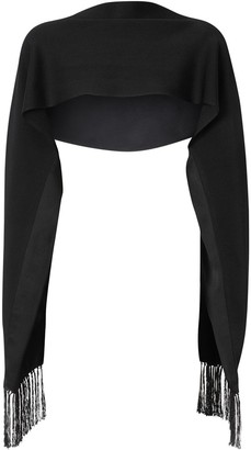 Burberry Sleeved Fringed Capelet