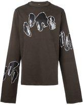 Damir Doma applique detail extra long sweatshirt