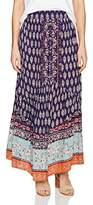 Angie Women's Boho Printed Maxi Skirt