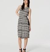 LOFT Petite Tasseled Midi Dress