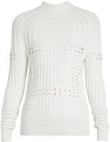 Mary Katrantzou Hardy high-neck 3-D knit sweater