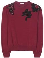 Oscar de la Renta Embellished Virgin Wool Sweater