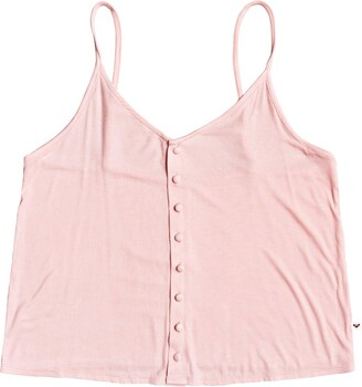 Roxy Womens Sweet Divine Button Up Tank Top T Shirt
