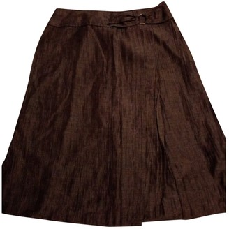 Non Signã© / Unsigned Brown Linen Skirts
