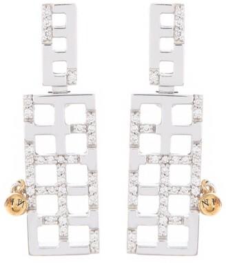 Breuning 14K Two-Tone Gold Diamond Ladder Dangle Earrings