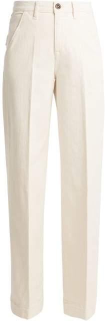 Frame Easy High Rise Wide Leg Jeans - Womens - Cream