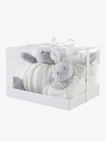 Vertbaudet Bunny Soft Toy and Slippers Gift Set