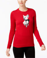 Charter Club Petite Dog Graphic Sweater, Created for Macy's