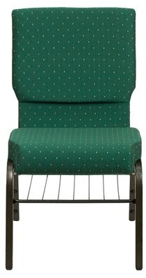 Ebern Designs MacArthur Guest Chair Finish: Gold Vein Metal, Seat Color: Green Dot Patterned