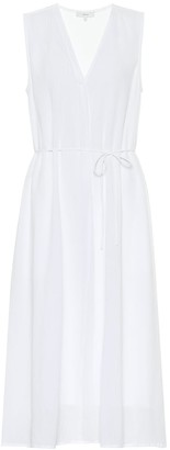 Vince Drawstring cotton midi dress