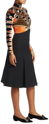 Proenza Schouler Crochet Boucle Suiting Dress