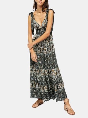 Free People Let's Smock About It Maxi Slip Dress