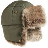 Barbour Women's Faux Fur Trapper Hat - Blue