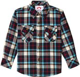 Appaman Flannel Shirt (Toddler/Kid) - Seaport Plaid - 3T
