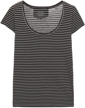 Frame Le Scoop Striped Pima Cotton-jersey T-shirt