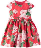 Carter's Floral Sateen Dress