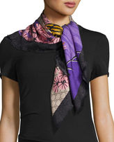 Gucci Silk Twill Bengal Scarf, Rope/Pink