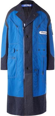 Junya Watanabe + Carhartt Patchwork Nylon And Wool-Tweed Coat