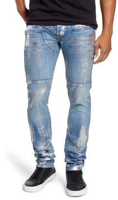 MRCLA Trafford Slim Straight Leg Jeans (Silver Foil)